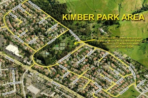 Satellite view of the Kimber Park area